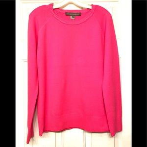 Bright Pink Sweater by FRENCH CONNECTION Large $88
